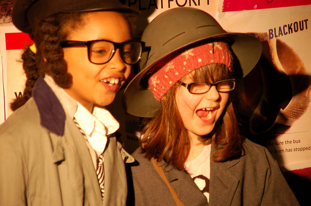 One from the archives - the 11 year old and friend enjoy dressing up!