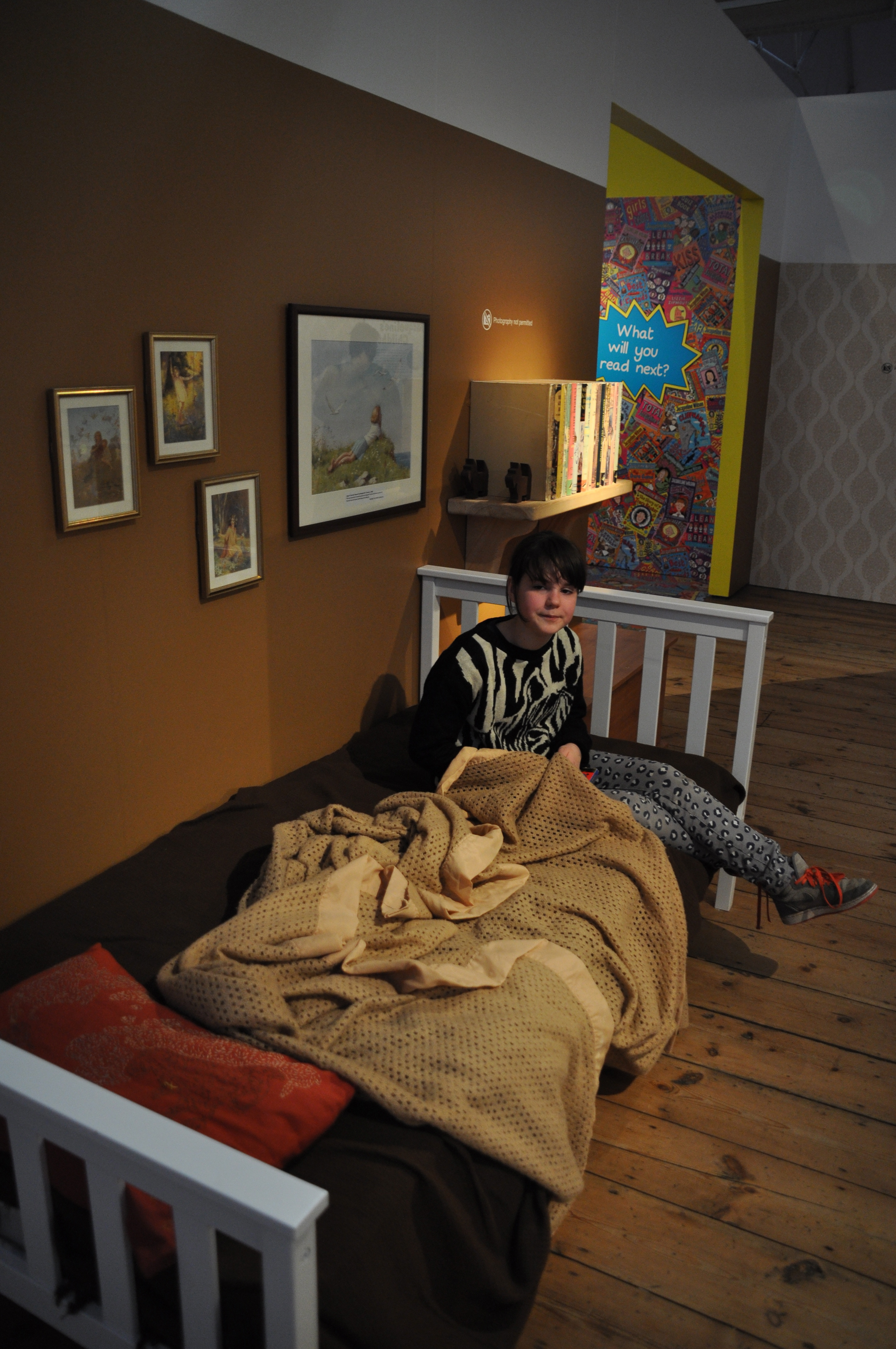 A bed in an exhibition? Perfect for the tweenager!