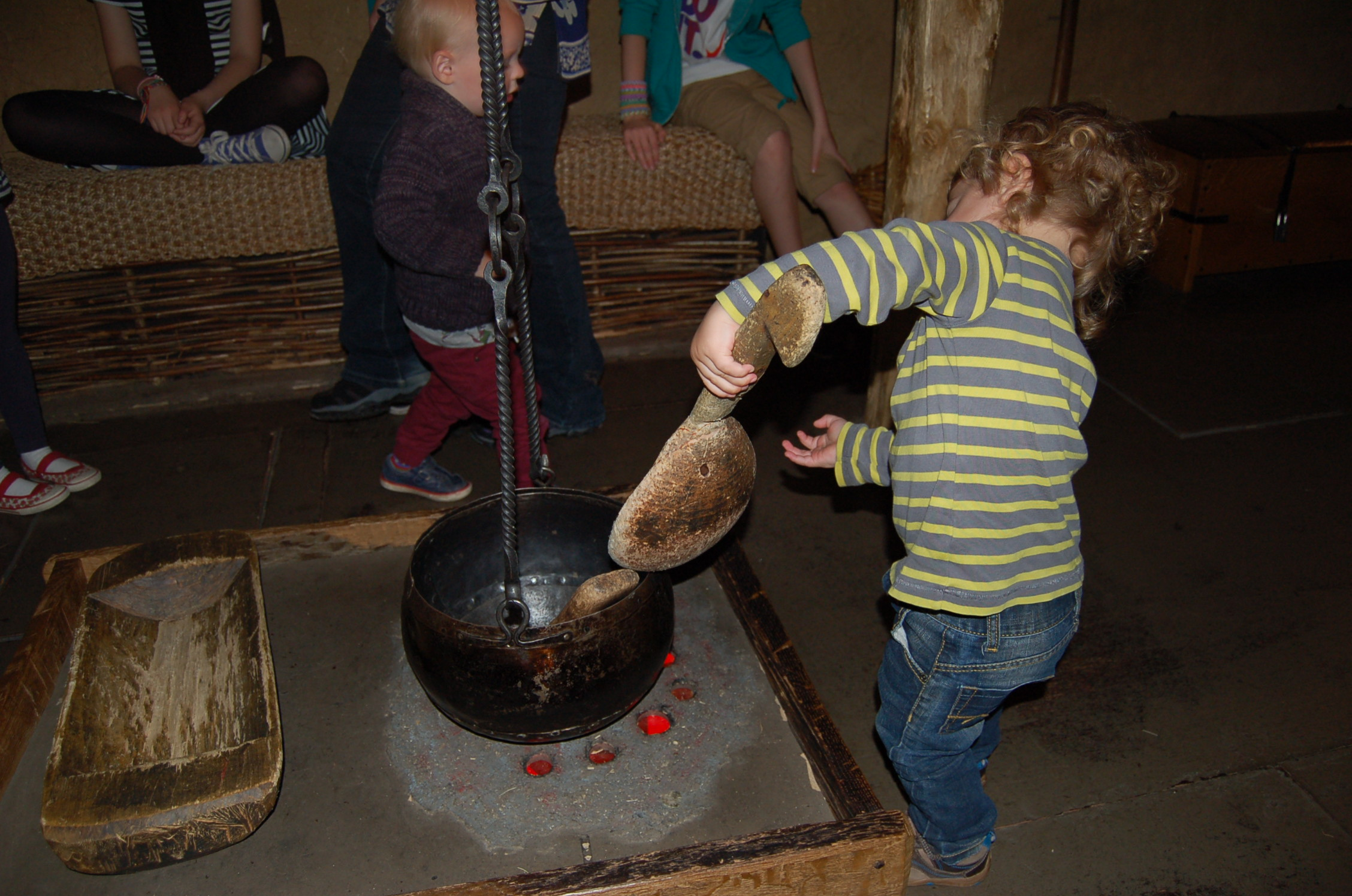 The toddler cooks up an Anglo-saxon storm