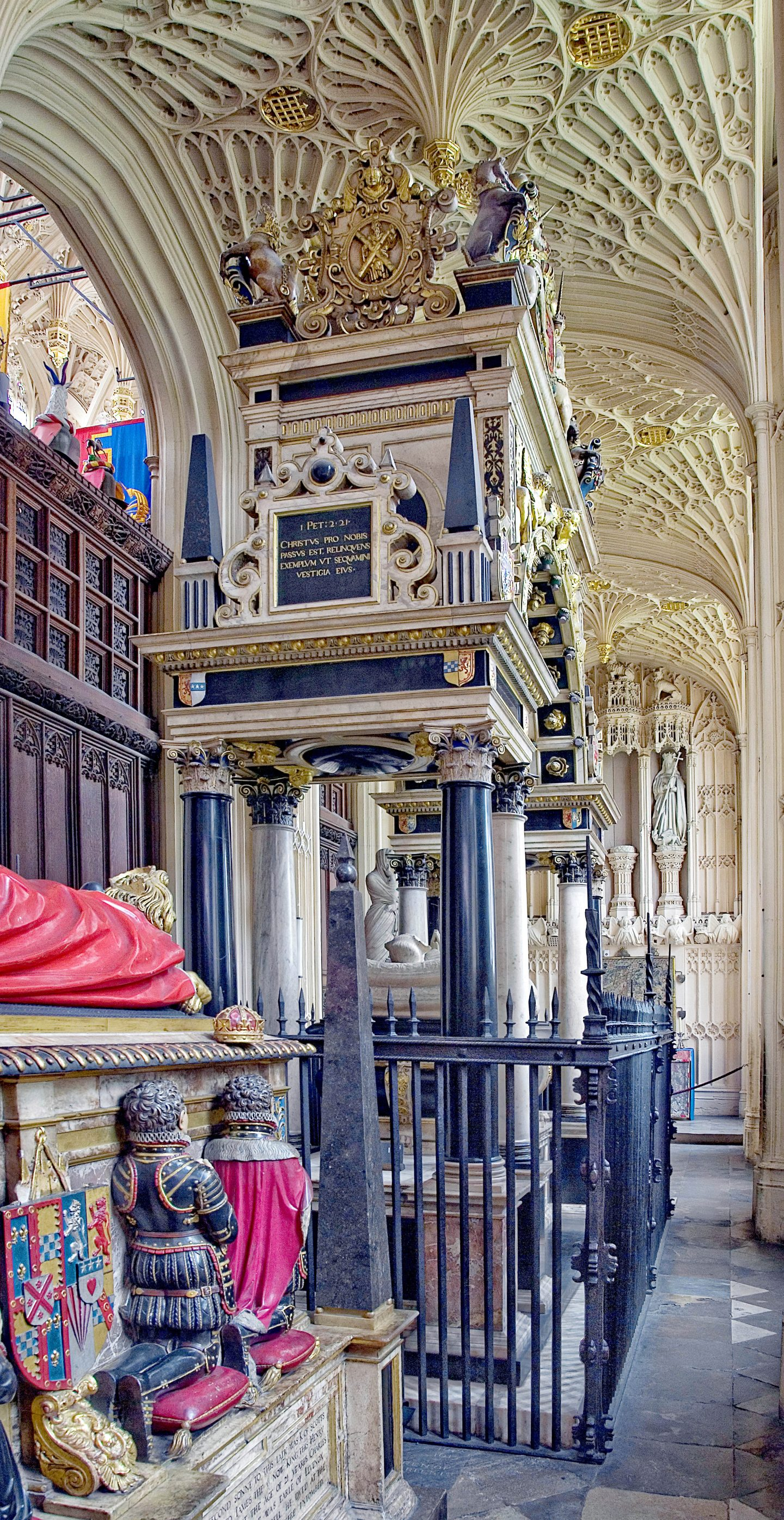 Tomb of Mary Queen of Scots, Westminster Abbey.