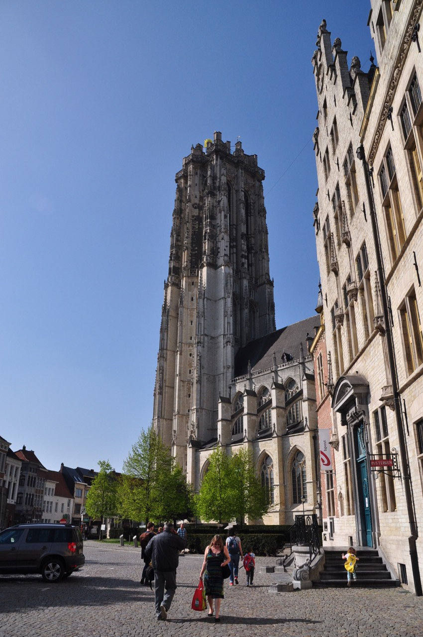 Climbing St Rumbolds Tower Mechelen with young kids Museum Mum