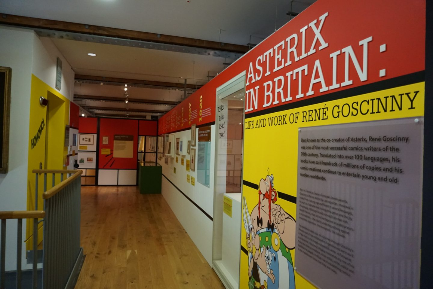 Asterix in Britain at the Jewish Museum - first introductory walls