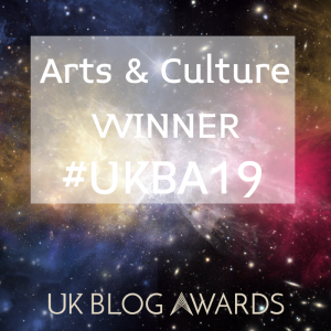 Arts & Culture Winner UK Blog Awards 2019