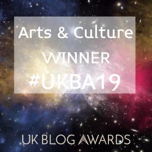 Arts & Culture Winner UK Blog Awards 2019