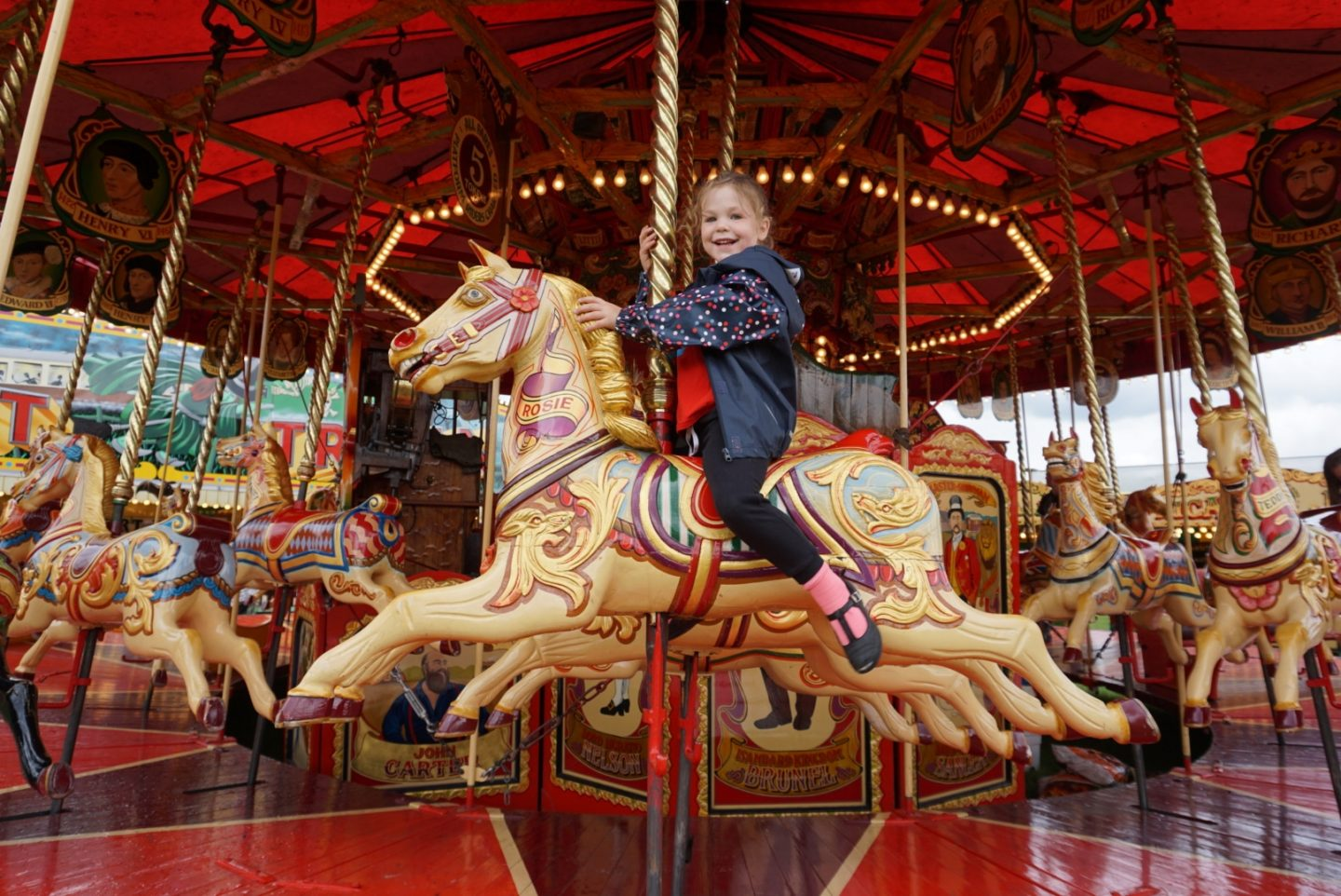 Carters Steam Fair with kids