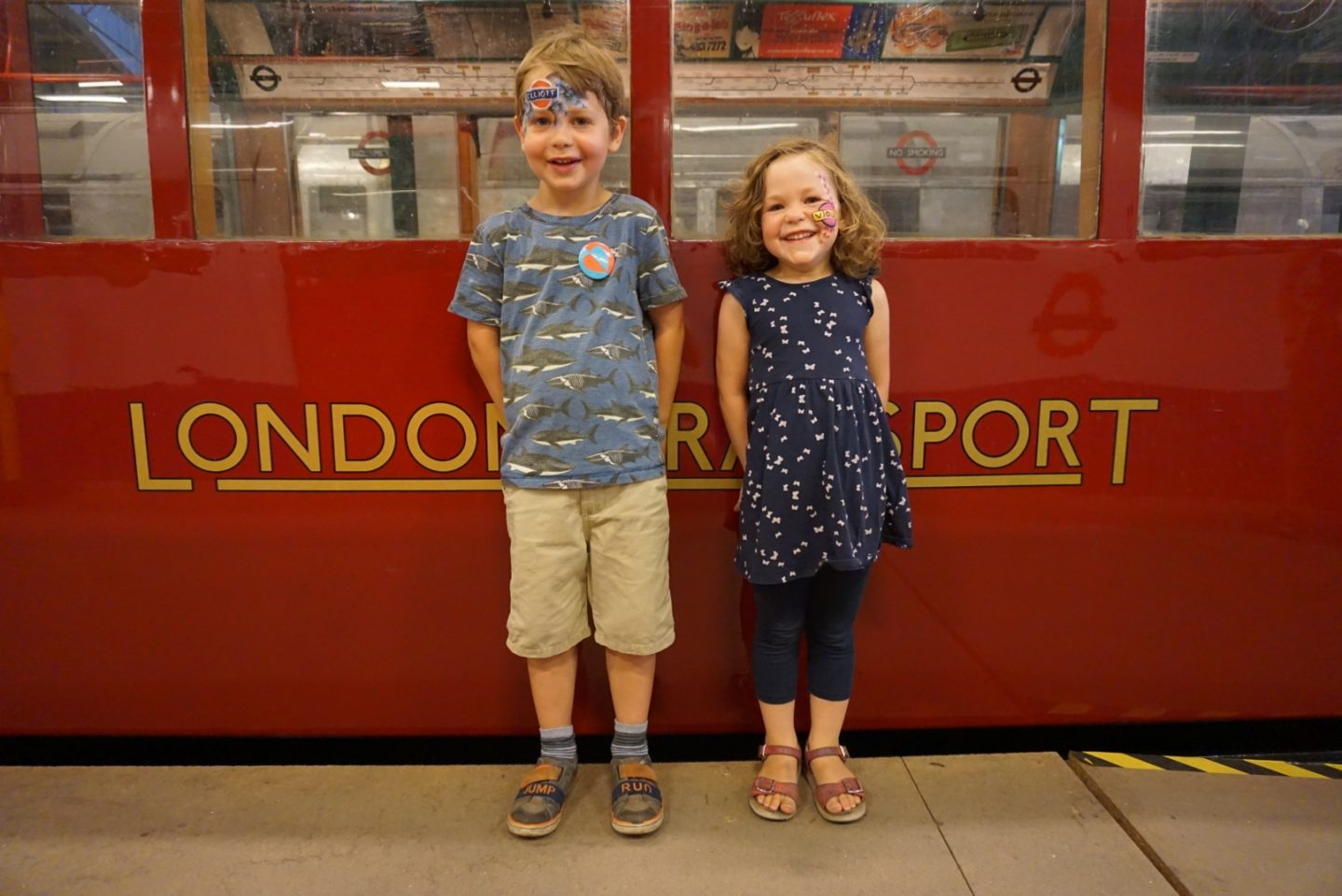 London Transport Museum Depot with kids