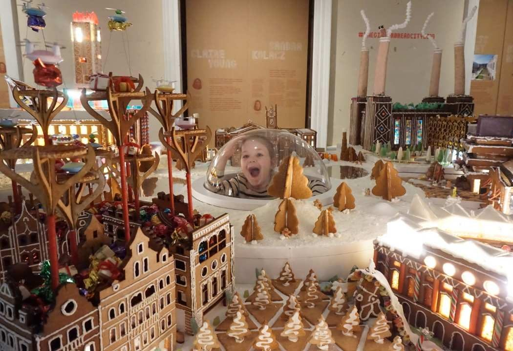 Gingerbread City 2019 with kids